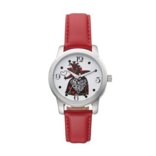 """Disney's Alice in Wonderland """"Off With Their Heads"""" Women's Leather Watch"""