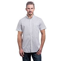 Men's Lee Classic-Fit Patterned Stretch Button-Down Shirt