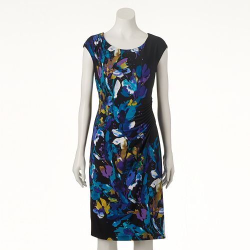Women's Connected Apparel Floral Sheath Dress