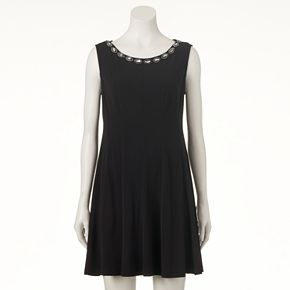 Women's Connected Apparel Embellished Shift Dress