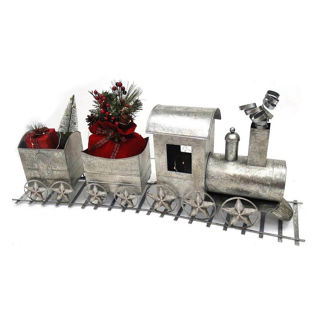 St. Nicholas Square® Oversized Traditional Silver Finish Train Table Decor