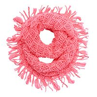 Girls 4-16 Sequin Fringe Knit Infinity Scarf