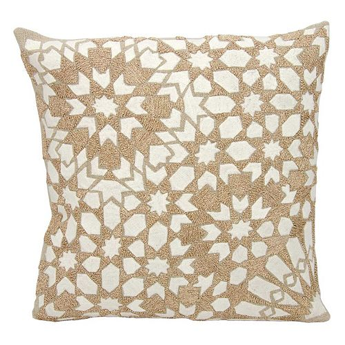 Mina Victory Couture Luster Gleaming Stars Throw Pillow