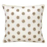 Mina Victory Couture Luster Sun Shimmer Throw Pillow