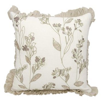 Mina Victory Couture Luster Whimsical Flora Throw Pillow