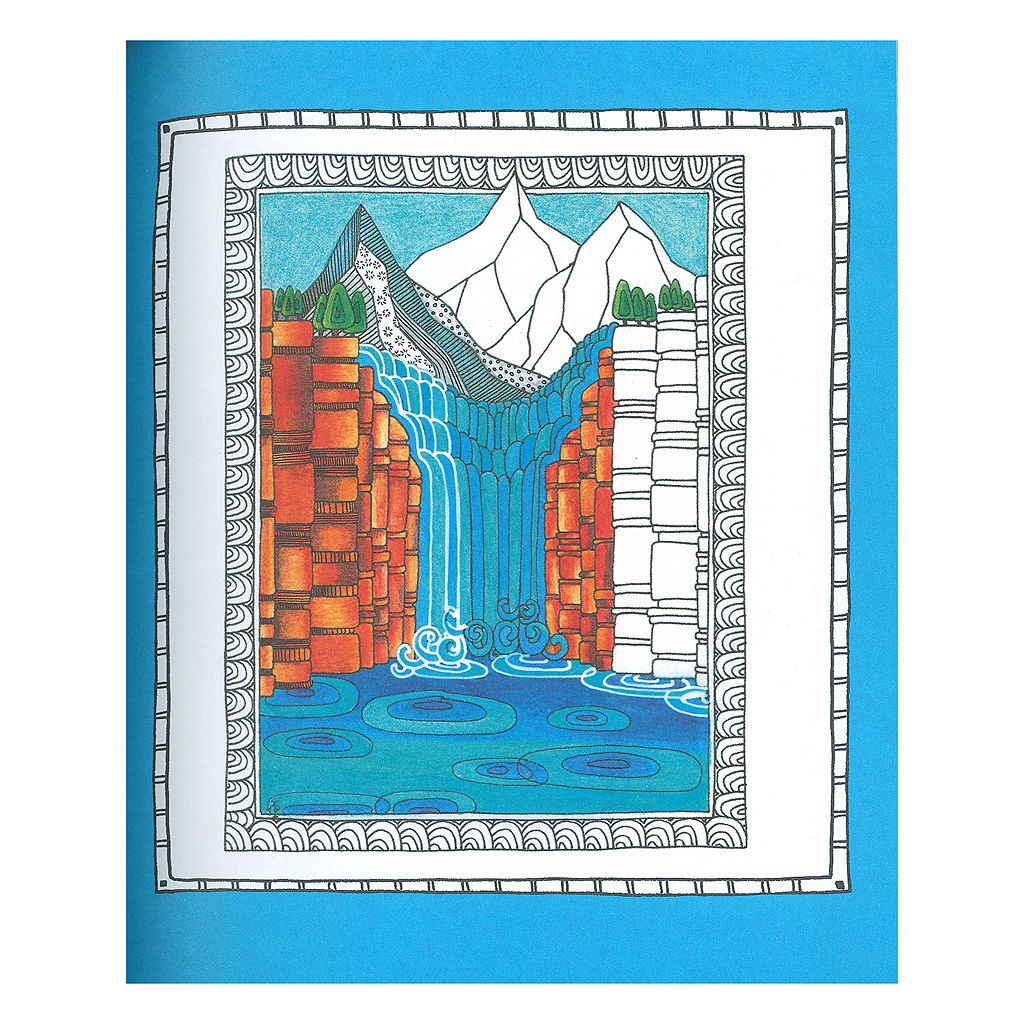 Portable Color Me Calm Adult Coloring Book Kit