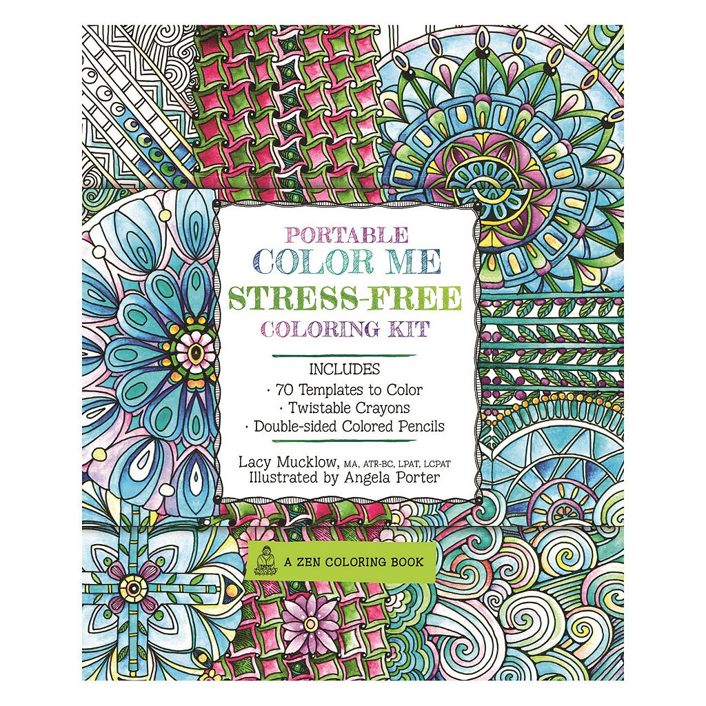 Coloring books for adults kohls - Portable Color Me Stress Free Adult Coloring Book Kit