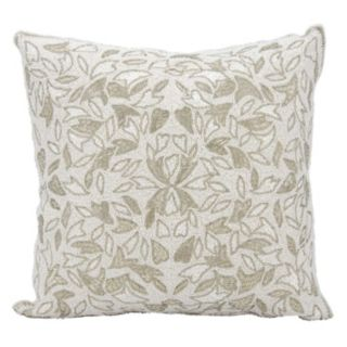 Mina Victory Couture Luster Beaded Vines Throw Pillow