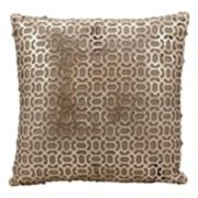 Mina Victory Couture Bias Leather Throw Pillow