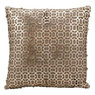 Mina Victory Couture Bias Leather Throw Pillow