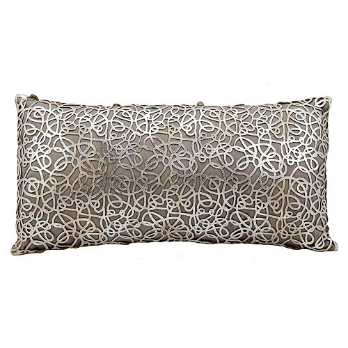 Mina Victory Couture Pinko Leather Oblong Throw Pillow