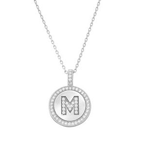 Sterling silver cubic zirconia initial pendant necklace null sterling silver cubic zirconia initial pendant necklace aloadofball Choice Image