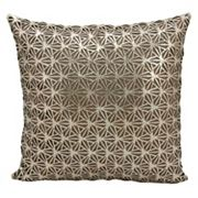 Mina Victory Couture Sunburst Leather Throw Pillow