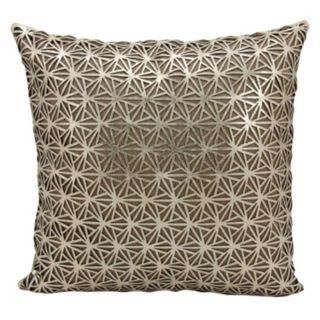 Mina Victory Couture Sunburst Leather Throw Pillow
