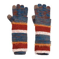 MUK LUKS 3-in-1 Striped Tech Gloves