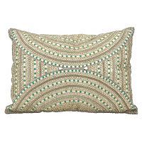 Mina Victory Dallas Beaded Tribal Oblong Throw Pillow