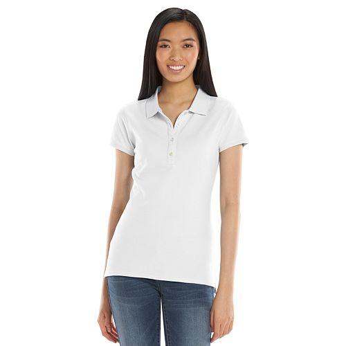 SO® Solid School Uniform Juniors' Polo