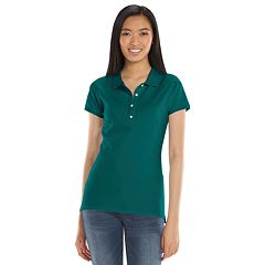 SO® Solid School Uniform Juniors' Polo