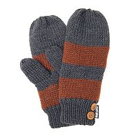 Women's MUK LUKS Striped Mittens