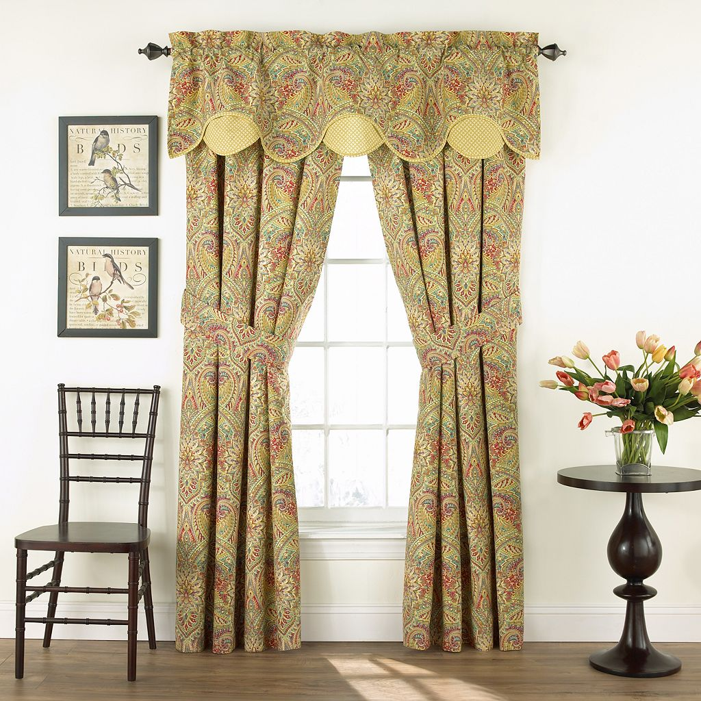 Waverly 2-pack Swept Away Floral Window Curtains