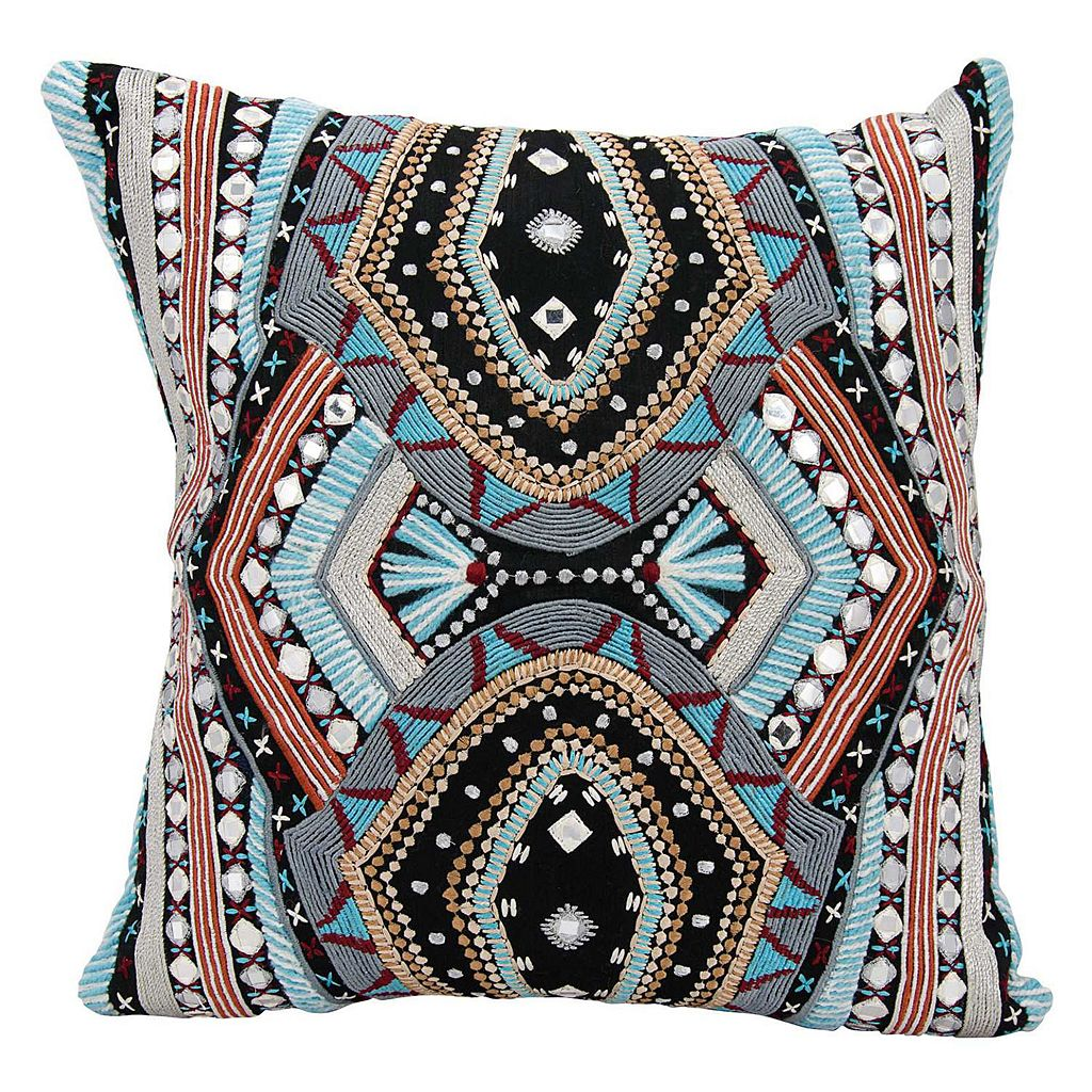 Mina Victory Dallas Western Mosaic Throw Pillow