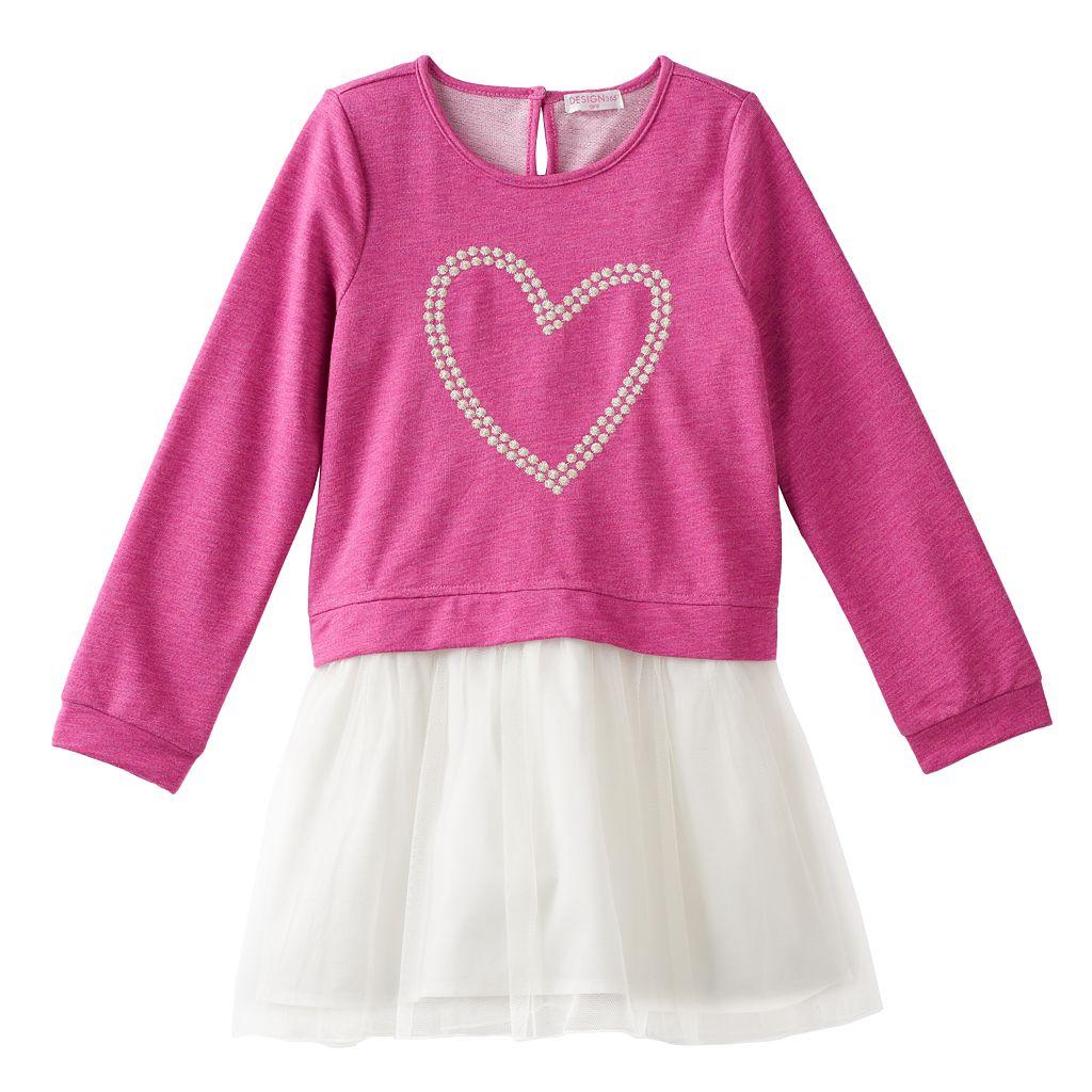 Toddler Girl Design 365 Heart Tutu Dress