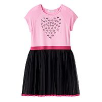 Toddler Girl Design 365 Rhinestone Heart Tulle Dress