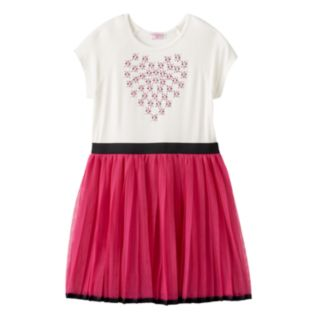 Toddler Girl Design 365 Rhinestone Heart Tulle Dress