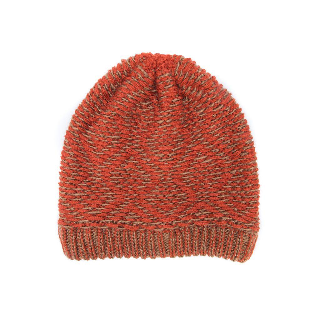 Women's MUK LUKS Gaucho Knit Geometric Beanie