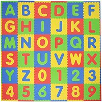 Tadpoles 60 pc ABC & 123 Foam Playmat