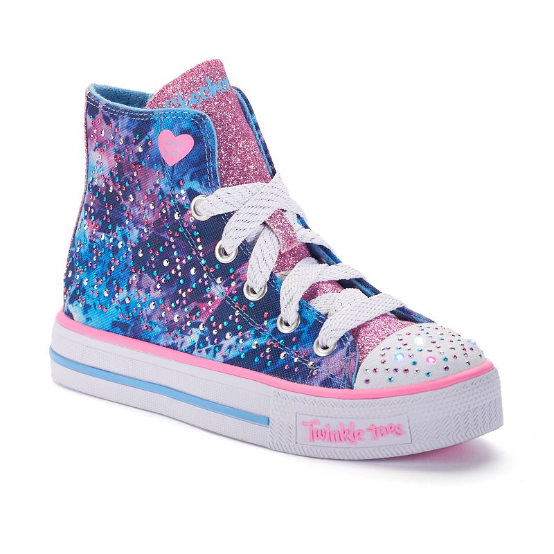 Skechers Twinkle Toes Studded Steps Girls Light Up High