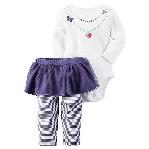 78be56ed8 Baby Girl Carter's Necklace Bodysuit & Tutu Pants Set