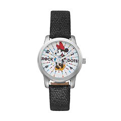 Disney's Minnie Mouse 'Rock the Dots' Women's Leather Watch