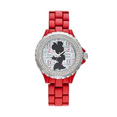 Disney's Minnie Mouse 'Glam Dots' Women's Crystal Watch