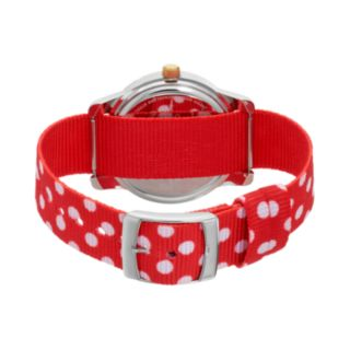Disney's Minnie Mouse Women's Two Tone Polka Dot Reversible Watch