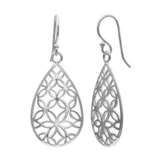 PRIMROSE Sterling Silver Flower Teardrop Earrings