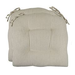 Park B. Smith Farmhouse Stripe Chair Pad 2-pk.