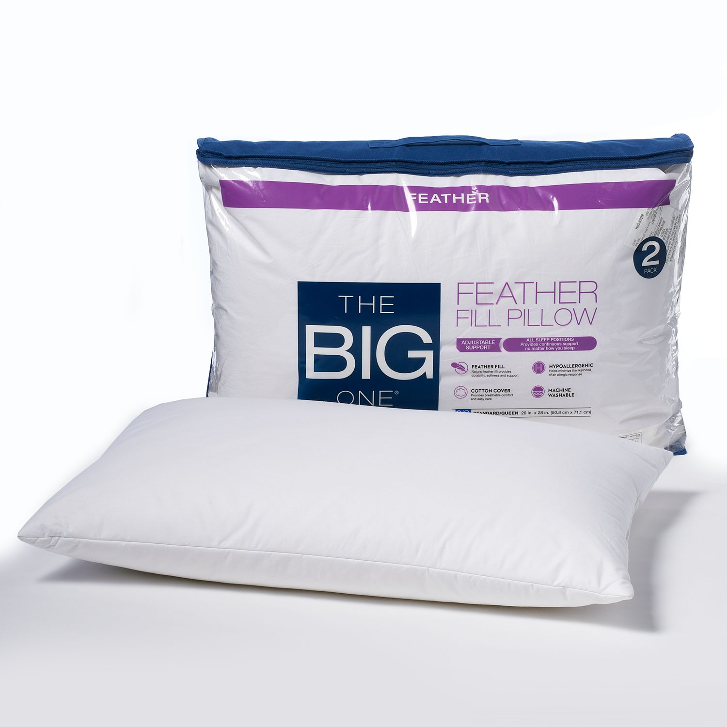 the big one 2pack feather pillow regular
