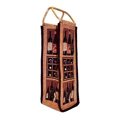 Park B. Smith Crates of Wine Single Bottle Wine Bag