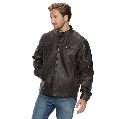 Men's Vintage Leather Leather Racer Jacket