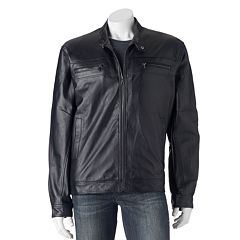 Big & Tall Vintage Leather Leather Racer Jacket by