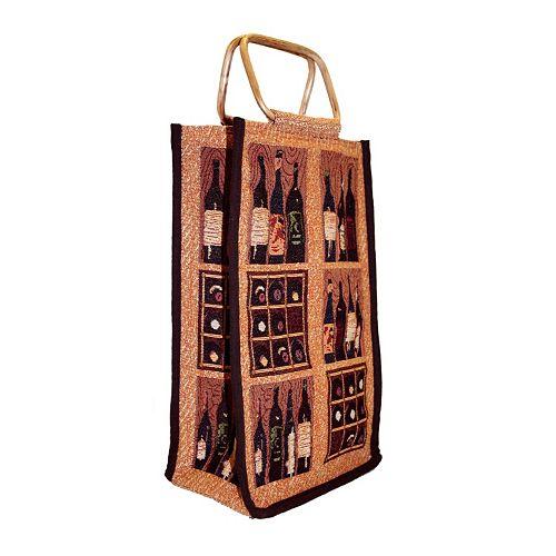 Park B. Smith Crates of Wine Double Bottle Wine Bag