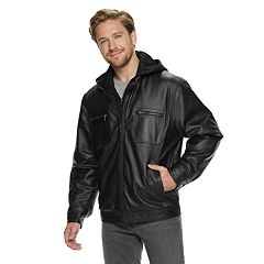 Men's Vintage Leather Leather Racer Jacket by