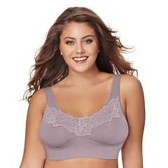 Just My Size Bras: 2-pack Pure Comfort Lace Full-Figure Wire-Free Bra 1271