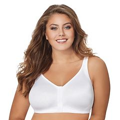 Just My Size Bras: 2-pack Super Sleek Front Close Full-Figure Wire-Free Bra 1217