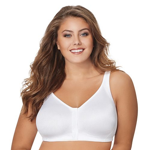 Just My Size Bras: 2-pack Super Sleek Front Close Full-Figure Wire-Free Bra1217
