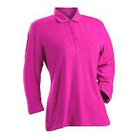 Plus Size Nancy Lopez Grace 3/4-Sleeve Golf Polo