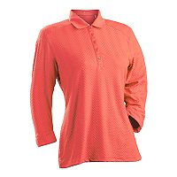 Plus Size Nancy Lopez Grace 3/4-Sleeve Golf Polo