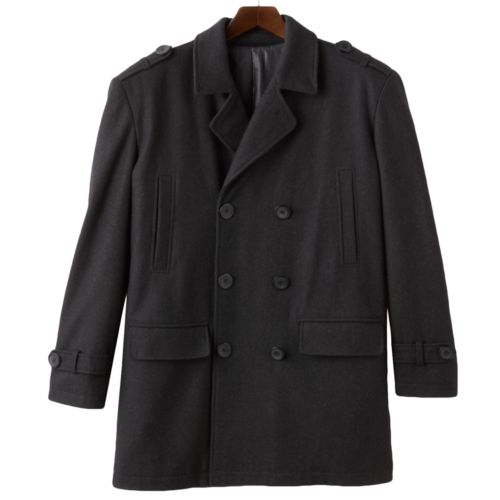 Big & Tall Domini Double-Breasted Peacoat