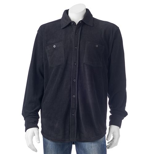 Men's Victory Rugged Wear Microfleece Button-Down Shirt Jacket